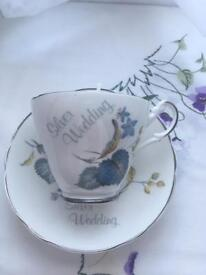 Vintage Tea cup candles **25th Anniversary gift** ONE LEFT £5 ONO