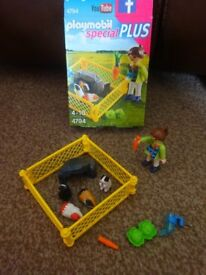 Playmobil Boxed As New Complete Special Plus Girl and Guinea Pigs set 4794 Only £2 ideal gift