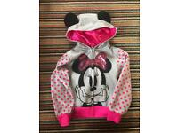 Girls Minnie Mouse hoody age 3-4