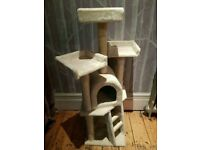 Cat Kitten home scratching post bed play kit - As New!