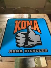Kona bikes shop sign
