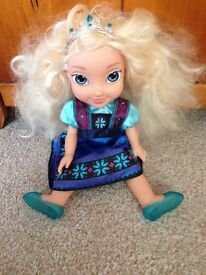 Used Elsa doll with dress and shoes