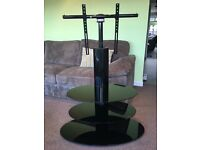 Techlink Strata Gloss Black 3 Tier TV Stand up to 55""