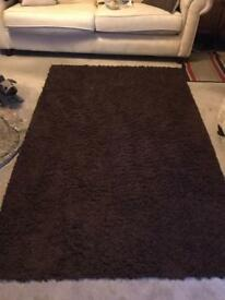 Dark brown rugs x2