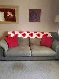 2 x large 3 seater sofas