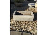 Concrete planter troughs