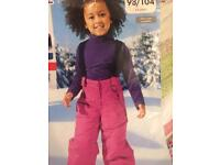 NEW Girls' 2-4Y winter trousers