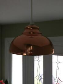 Copper pendant light X3
