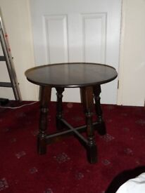 Small round occasional or coffee table