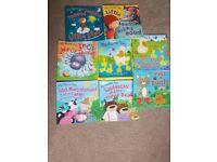 Children's picture books in a bag