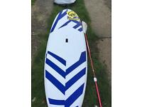 RRD wassup paddle board with new windsurf attachments