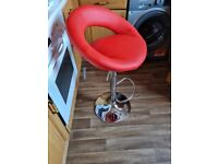 Red Faux Leather Bar / Breakfast / Kitchen Stool (Brand new in Packaging)