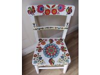 Beautiful Hand made Vintage chair and desk for children