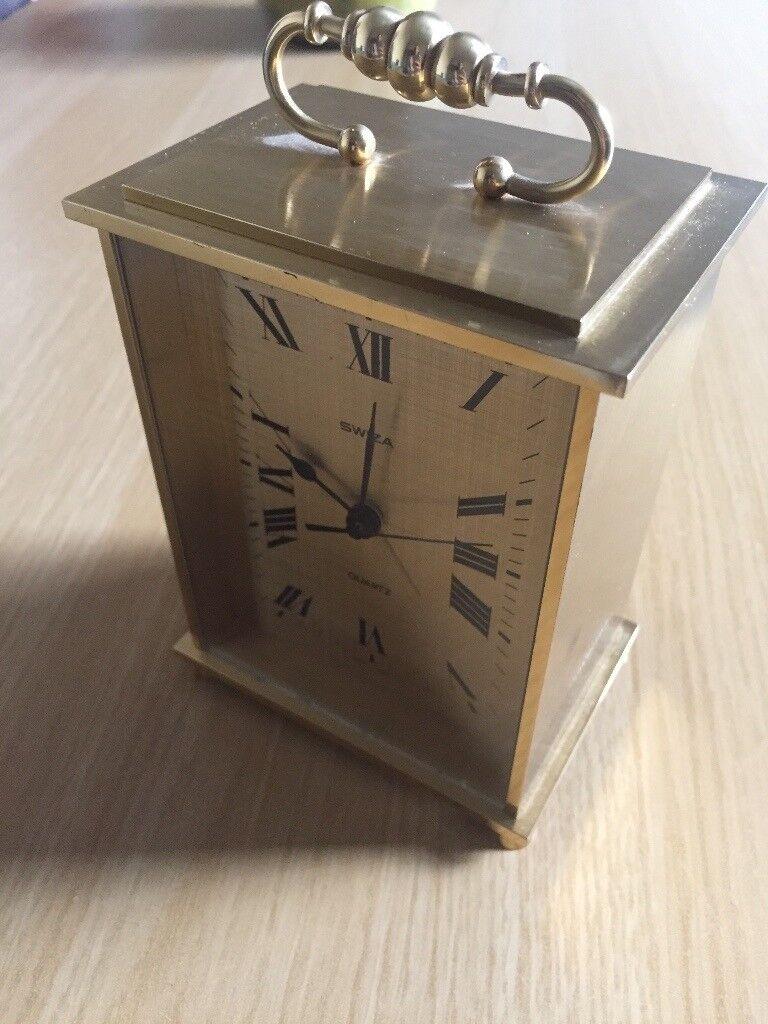 Brass vintage antique Quartz Clock with alarm