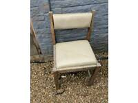 X4 wooden chairs