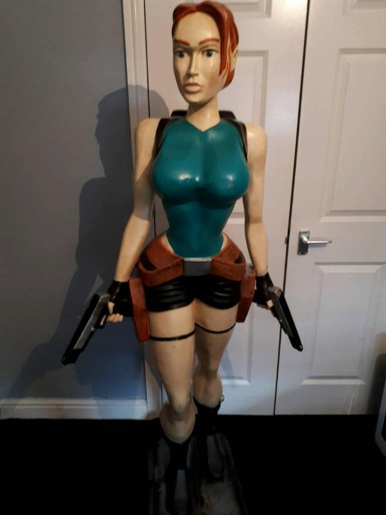 Life Size Lara Croft Statue In Staple Hill Bristol