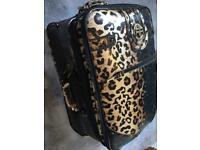 River Island Leopard Suitcase