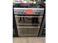STOVES 60CM CEROMIC TOP ELECTRIC COOKER IN SILIVEE