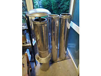 Twin wall insulated stainless steel flue