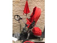 STOKKE XPLORY RED - FULL SET OF ACCESSORIES
