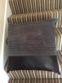 Faux leather/corduroy cushions