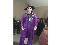 Fancy Dress - purple pimp costume male size Medium