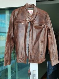 Mens Cafe Racer style leather jacket