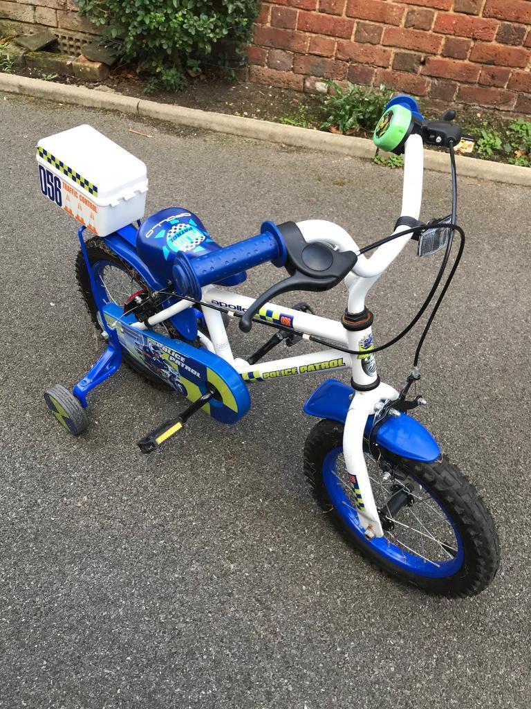 """Child's police bike 14"""""""