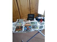 Nintendo 3DS XL with twelve games charger and case