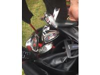 Hippo giant golf bag and clubs cheap vgc cavity backed good quality summers here bargain