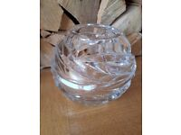 "Tiffany & Co. Crystal ""rose bowl"" flower vase"