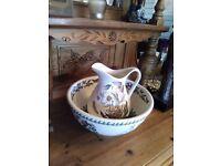 Portmeirion water jug and bowl