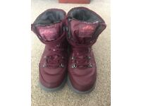 North face plum snow boots