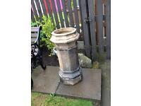 Victorian hexagonal chimney pot planter