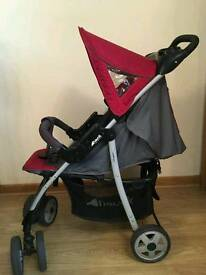 Hauck shopper 3in1 pushchair, carry cot and car seat. Used but in very good condition.