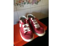 NIKE Size 4 classic Red ladies lace up trainers