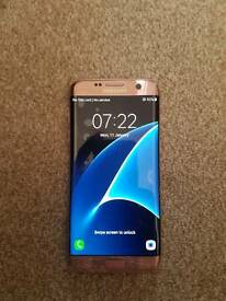 Samsung galaxy s7 edge rose gold good unlocked