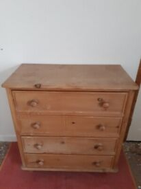 Lovely Old Solid Pine Chest of Drawers