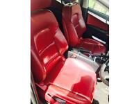 Audi A3 red leather interior