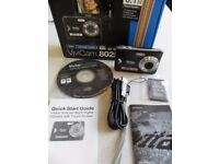 Black Vivitar Vivicam 8025 HD Digital Camera, 2.4 inch Touch Screen incl. accessories. Unused/Boxed