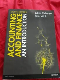 """Accounting and Finance an introduction"""