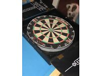 Dart board and pool table