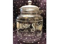Glass Candy Shop Jar with Lid