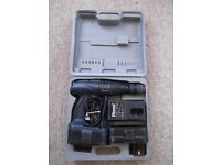 FERM Accudrill 24 volt cordless combi hammer drill/driver - 2 batteries, charger & case