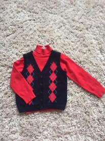 Boys Christmas jumper set from Sarah Louise. Age 5 years