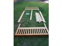 Solid wood bedframe/bedstead (double)