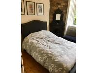 Grey small double bed and mattress £125 for both