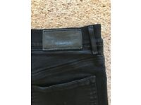 DIESEL ladies / teenager black / faded skinny high waisted jeans. Excellent condition,