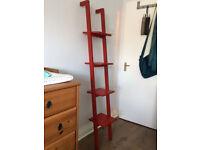 Ikea Rexbo Ladder Shelves - Red