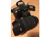 Nikon D90 with 2 lenses 18-200mm lens and 50mm lens